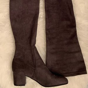 Steve Madden Grey Over The Knee Boots - Size 9.5